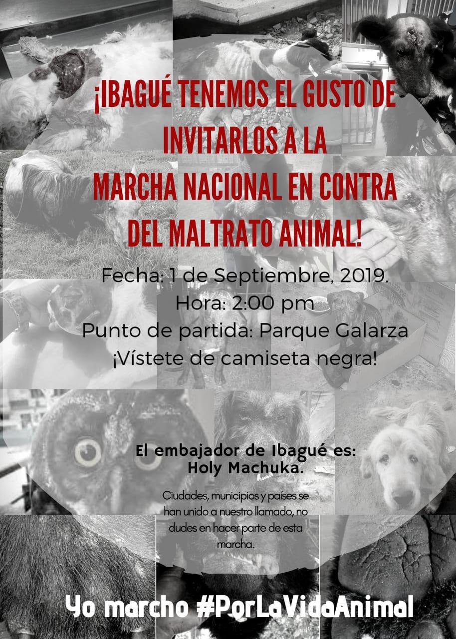 Marcha Nacional Contra El Maltrato Animal Próximo Domingo