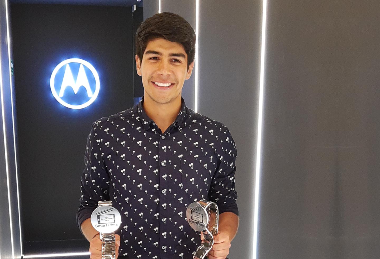Joven de Villapinzón brilló en festival de cine de la mano de Motorola - La FM