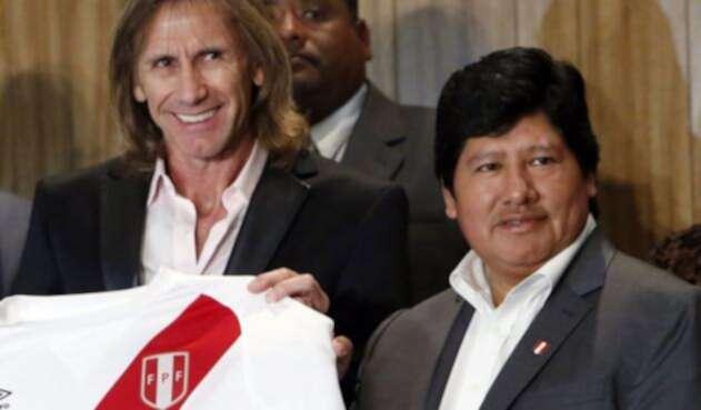 Edwin Oviedo, presidente de la federación peruana de fútbol