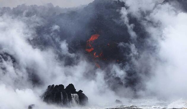 Grandes nubes tóxicas creadas por lava de volcán Kilauea