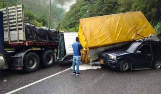 El accidente en la vía Bogotá-Villavicencio