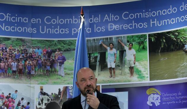Alberto Brunori, representante en Colombia del Alto Comisionado de la ONU