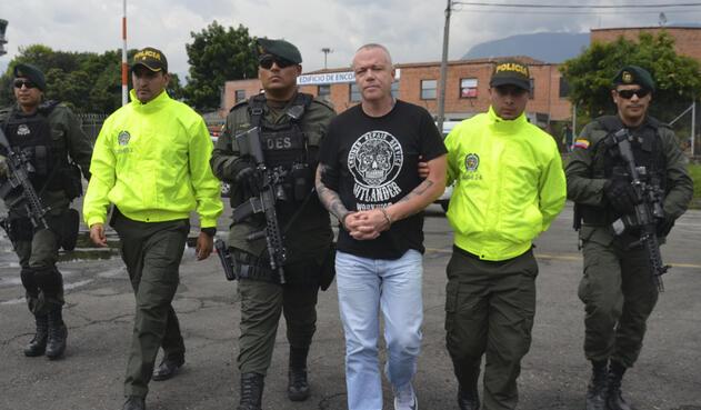 Jhon Jairo Velásquez, alias Popeye / Foto Policía Metropolitana de Medellín