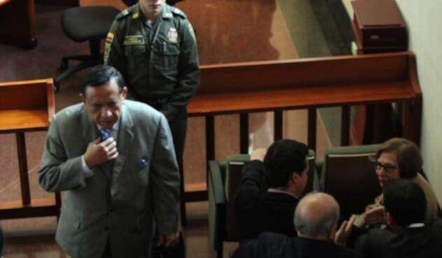 Miguel Maza Márquez durante una audiencia