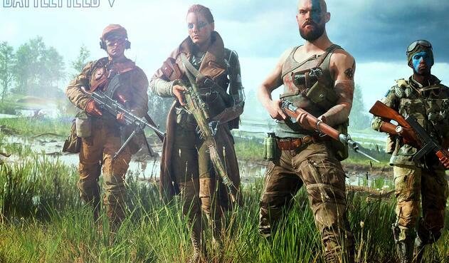 Compañía militar en Battlefield V