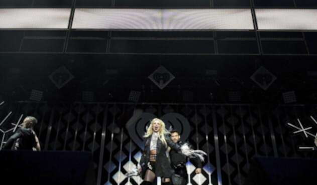 Britney Spears en el escenario de los 102.7 KIIS FM's Jingle Ball, en Los Ángeles, California / AFP