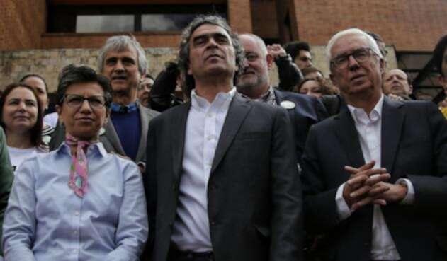 Claudia López, Sergio Fajardo, Jorge Robledo / Colprensa