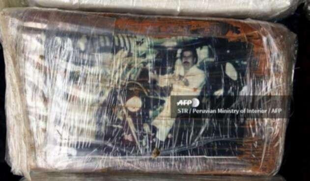 Cargamento de cocaína con la imagen de Pablo Escobar / AFP