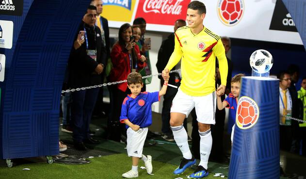 James Rodríguez, volante de la Selección Colombia