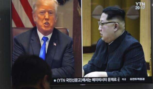 Donald Trump y Kim Jong Un / AFP