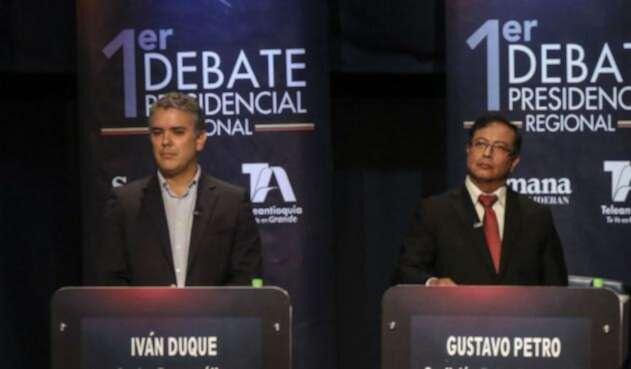 Los candidatos Iván Duque y Gustavo Petro se enfrentarán en segunda vuelta este 17 de junio