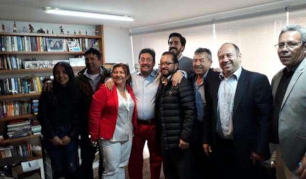 Reunión del exvicepresidente Francisco Santos con miembros de La U