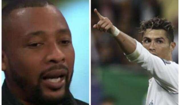 Edwin Congo y Cristiano Ronaldo / Imágenes de @elchiringuitotv y AFP