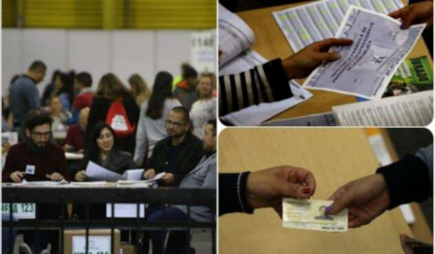 Ciudadanos ejerciendo su derecho al voto durante la primera vuelta de las elecciones presidenciales 2018
