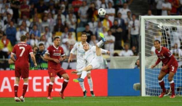 El acrobático golazo de Gareth Bale en la final de Kiev