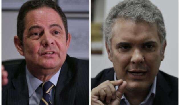 Germán Vargas e Iván Duque / Colprensa