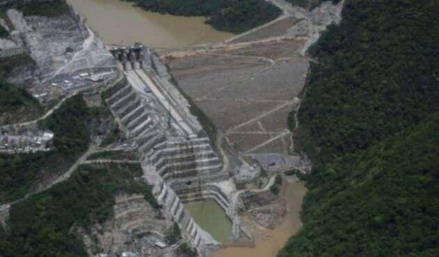 La hidroeléctrica Ituango y el río Cauca, en Antioquia