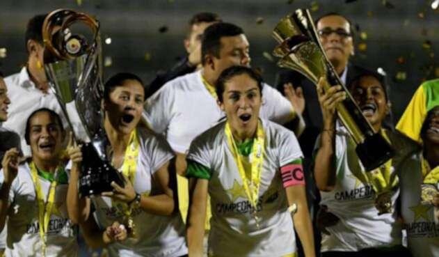 Atlético Huila, campeón de la Liga Águila Femenina / Tomada de la cuenta de Twitter @Dimayor