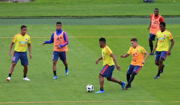 Selección Colombia entrenó en Bogotá