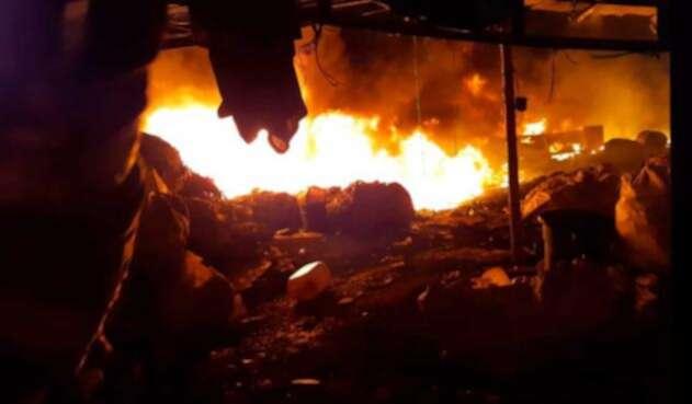 Incendio en fábrica del Valle del Cauca