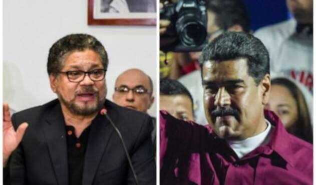 Iván Márquez y Nicolás Maduro / AFP