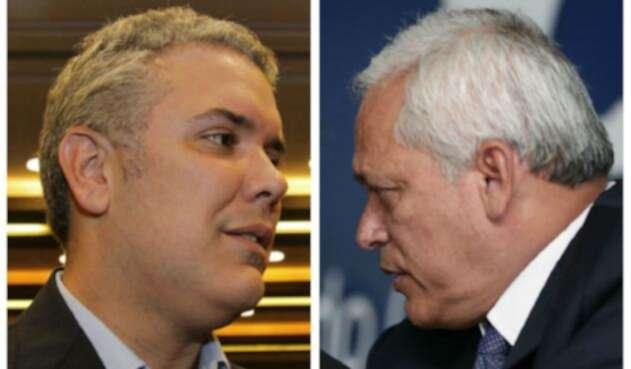Iván Duque y Hernán Andrade