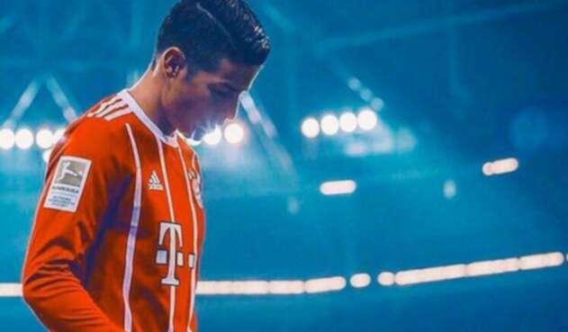 James Rodríguez con el Bayern.