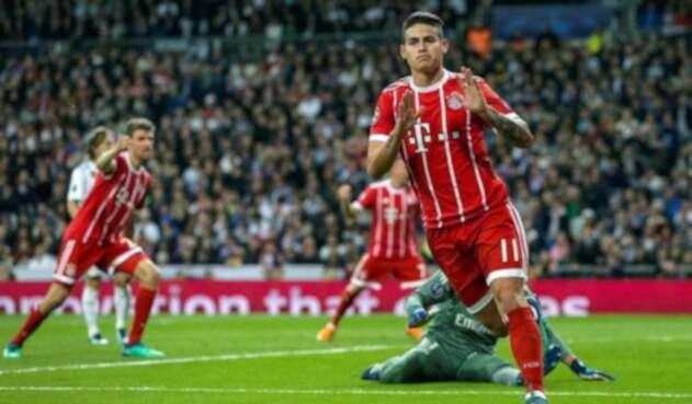James dejó de celebrar su gol al Madrid con la camiseta del Bayern en semifinales