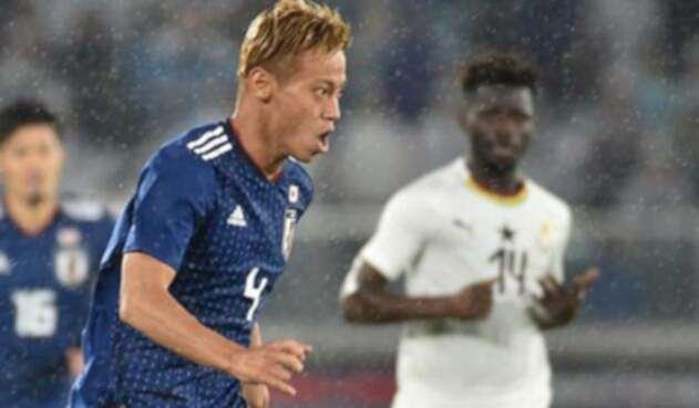 Keisuke Honda, jugador de Japón / AFP