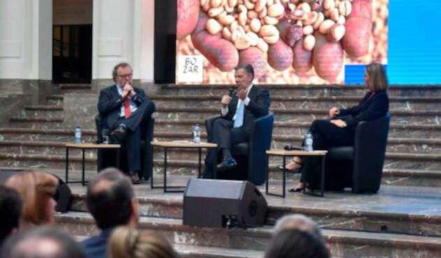 Juan Manuel Santos en Bruselas
