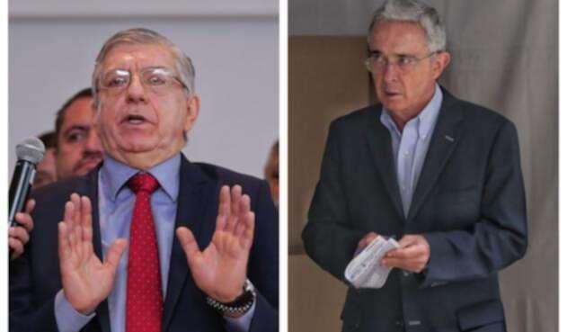 Los expresidentes César Gaviria y Álvaro Uribe / Colprensa