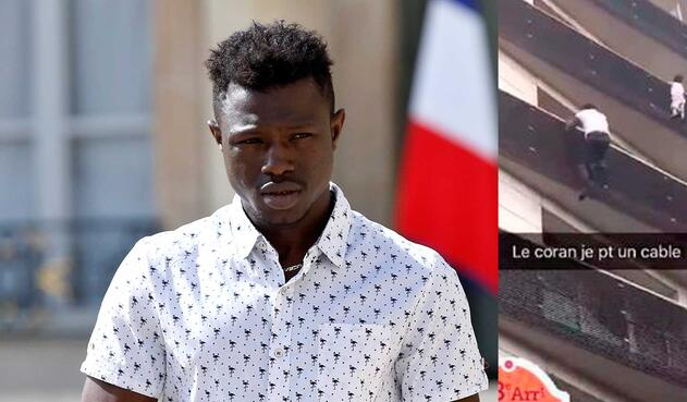 Mamoudou Gassama, hombre que rescató a un niño de un 4 piso