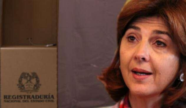 María Ángela Holguín, ministra de Relaciones Exteriores