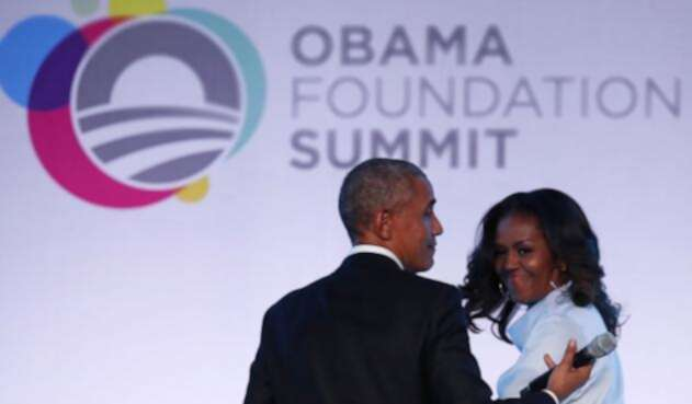 Barack Obama y su esposa Michelle