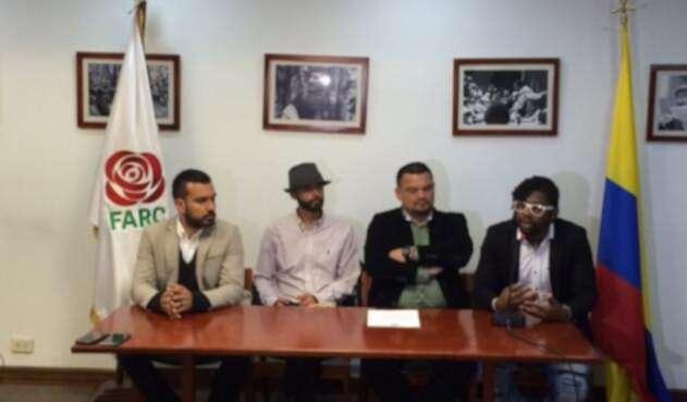 Militantes del partido Farc