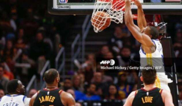 Los Golden State Warriors y los Cleveland Cavaliers, el 15 de enero en Cleveland (Estados Unidos)
