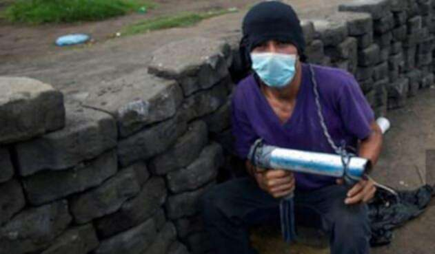 Manifestante nicaragüense / AFP