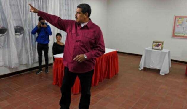Nicolás Maduro en elecciones