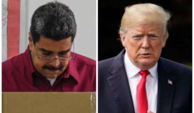 Los presidentes Nicolás Maduro y Donald Trump / AFP