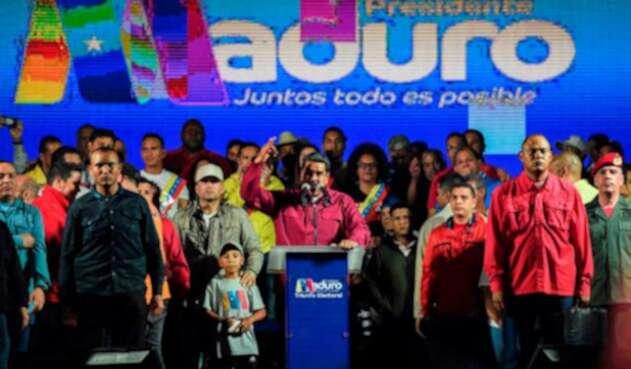Nicolás Maduro, tras ser reelegido en Venezuela