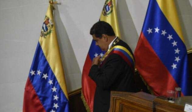 Nicolás Maduro, presidente de Venezuela, en Caracas tras asumir su segundo mandato