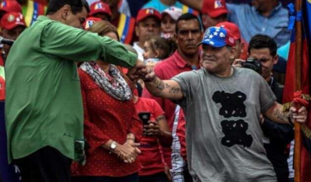 Nicolás Maduro y Diego Maradona el 17 de mayo pasado en Caracas