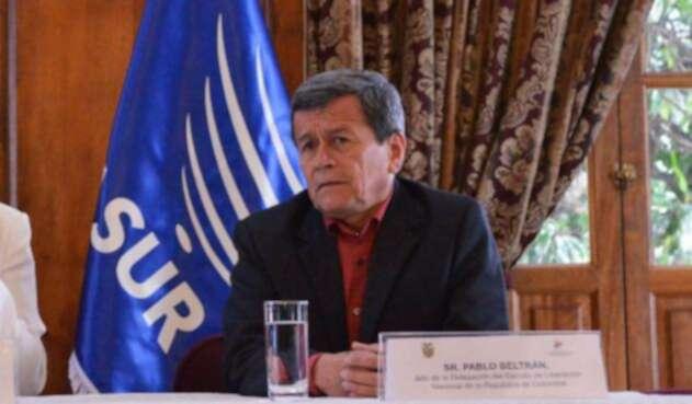 El jefe negociador del ELN, Pablo Beltrán