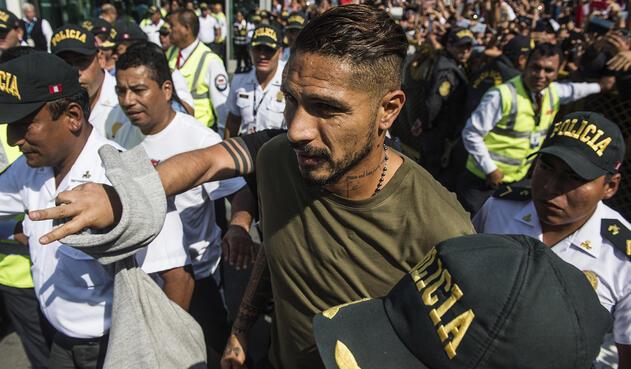 Paolo Guerrero, futbolista peruano / AFP