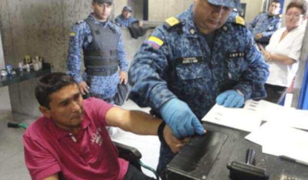 Pedro Nel Rincón, más conocido como 'Pedro Orejas', en la cárcel La Picaleña, de Ibagüe / Colprensa