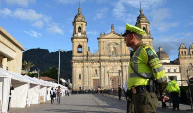 Policía en jornada electoral