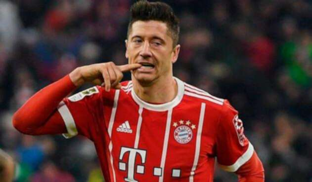 Robert Lewandowski con el Bayern