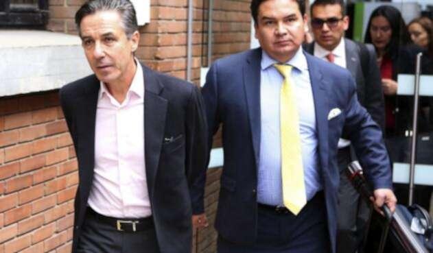 Llegada de Roberto Prieto a los juzgados de Paloquemao