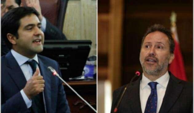 Samuel Hoyos, representante del Centro Democrático, y Néstor Raúl Correa, exsecretario de la JEP