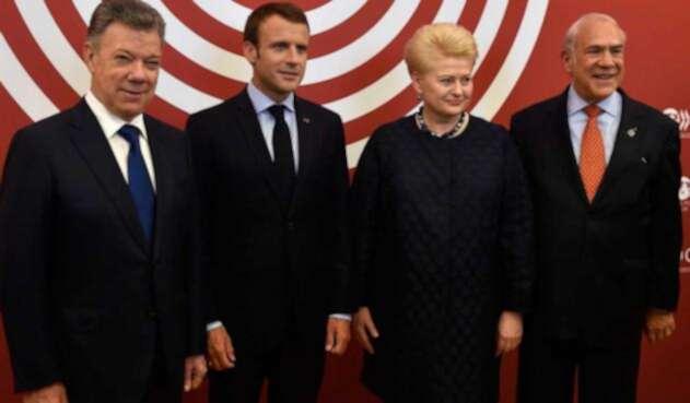 Juan Manuel Santos en la OCDE